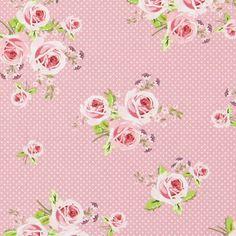 Cotton Ring of Roses 3 - Summer Loft- tyg. Roses, Loft, Summer, Fabric, Cotton, Tejido, Summer Time, Tela, Pink