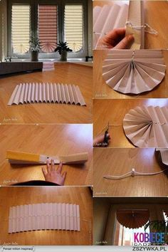 DIY Curtain Out of Paper | 17 Amazingly Cheap Home Decor | DIY Crafts
