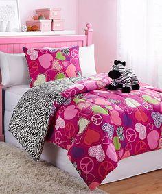 Zebra Reversible Comforter Set   Daily deals for moms, babies and kids
