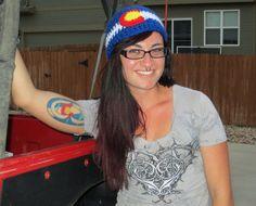 Colorado Flag Beanie  Colorado Proud Hat  by BitchinBagsbyBenita, $28.00 #jeepscolorado #coloradoflag