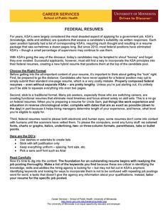Federal Resumes (Page 1)  Federal Job Resume