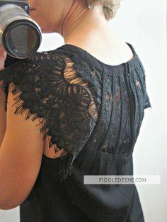 Brixon Ivy Jarred Lace Detail Cap Sleeve Blouse Stitch Fix Review Detail Back
