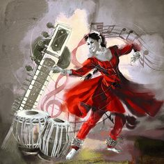 Kathak Dancer 1 Painting
