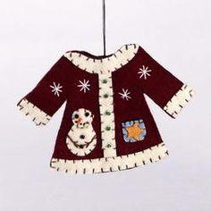 Felt Christmas Shirt ornament