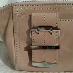 Charles David clutch Preloved soft pink leather clutch with two sided zipper closure inside is very clean. Charles David Bags