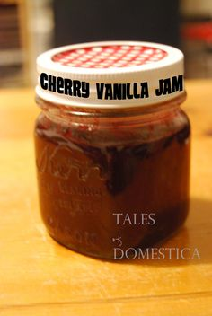 Tales of Domestica: Cherry Vanilla Jam.  sounds yummy!