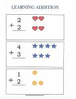 Small set of printable worksheets - good addition, 1-3 number tracing, a few counting.