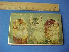 3 CATS on Vintage candy tin box DROSTE Haarlem Holland LANGUES de CHATS REICHERT | Collectibles, Advertising, Merchandise & Memorabilia | eBay!