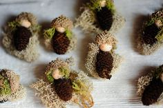 Moss gnome baby magnets | Waldorf inspired.