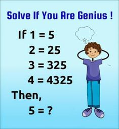 Solve If You Are Genius Tricky Pattern Number Puzzles- With Answer and Solutions. Math Puzzles Only For genius with Answer. Math Riddles With Answers, Tricky Riddles, Jokes And Riddles, Hard Riddles, Funny Riddles, Funny Jokes, Brain Teasers Riddles, Brain Teasers With Answers, Tricky Questions