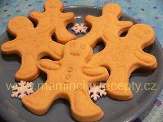 Máslové sušenky Gingerbread Cookies, Desserts, Food, Gingerbread Cupcakes, Tailgate Desserts, Deserts, Essen, Postres, Meals