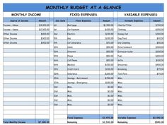 Easy Monthly Budget Spreadsheet