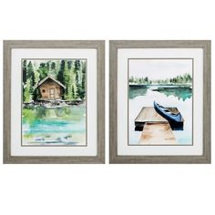 This set of watercolor inspired lodge prints are double matted and framed under glass with a wood-toned moulding. They come ready to hang and are made in the USA! Frame Wall Decor, Frames On Wall, Framed Wall Art, Wall Art Decor, Painting Frames, Painting Prints, Gallery Frame Set, Cute Picture Frames, Cool Wall Art