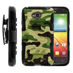 Buy LG Ultimate 2 Case, LG Ultimate 2 Holster, Two Layer Hybrid Armor Hard Cover with Built in Kickstand for LG Optimus L70 MS323, LG Optimus Exceed 2 VS450PP, LG Realm LS620, LG Ultimate 2 L41C (Metro PCS, Verizon, Boost Mobile) from MINITURTLE | Includes Sc for 13.99 USD | Reusell