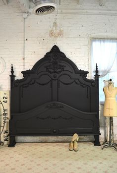 Painted Cottage Shabby French Black Romantic by paintedcottages