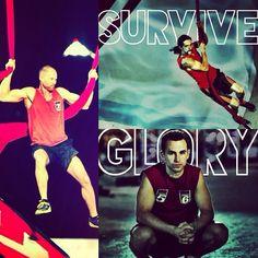 "Some of the top athletes of American Ninja Warrior: Brian Arnold, Isaac Caldiero, and Joe ""The Weatherman"" Moravsky"