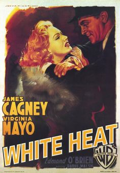 WHITE HEART (1949) - James Cagney - Virginia Mayo - Directed by Raoul Walsh- Warner Bros. - Movie Poster.