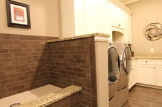 Mudroom/Laundry Room #2 BIA Parade of Homes ~ by Anabasis Photography -  I LOVE this small shower.  Perfect for washing animals!