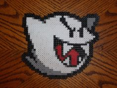 Perler Bead Boo from Mario perler bead design by ~EP-380 on deviantART