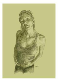 Retrato de Flavia, la mujer de un amigo, que hice por encargo...