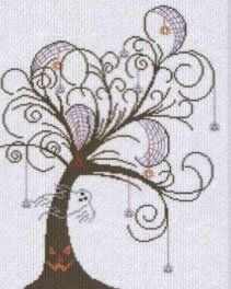 AAN161 - Halloween Tree - I found this while browsing JuliesXstitch.com