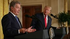 "Trump falsely claimed Finland is buying Boeing fighter jets. Niinistö pushed back in a tweet Monday, calling this ""ankka,"" which translates to a falsehood or fake news."