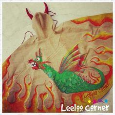 Capa de demoni .drac de la geltru. Fiesta mayor by leeloo corner #Leeloocorner #leeloocorner #capademoni #cap #demonis #cataluña #catalunya #festes major      #fiesta mayor #sant pere de ribes #sant pedro de ribas #handmadewithlove #handmade #followme #follow me please #painted #homemade