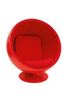 10 veces en las que el rojo fue GANADOR - Ball Chair | Galería de fotos 5 de 10 | AD Ball Chair, Egg Chair, Furniture, Design, Home Decor, Photo Galleries, Chairs, Red, Decoration Home