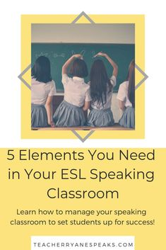 5 Elements You Need in Your ESL Speaking Classroom Teaching Strategies, Teaching Resources, Teaching Ideas, Teacher Must Haves, Comprehensible Input, Traveling Teacher, 5 Elements, Languages Online, English Language Learners