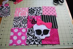 Rag Blanket Monster High very popular to make little girls like kk
