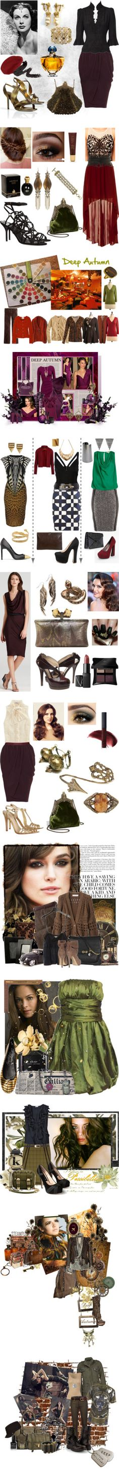 """Dark Autumn personal coloring"" by in-vero-pulcritudo on Polyvore"