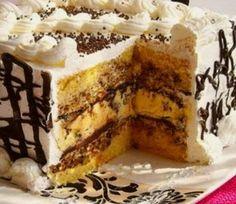 Fantastična kremasta torta Malaga Torte Cake, Cake & Co, Chocolate Apples, Caramel Apples, Sweet Recipes, Cake Recipes, Banana Pudding Cheesecake, Kolaci I Torte, Layer Cakes