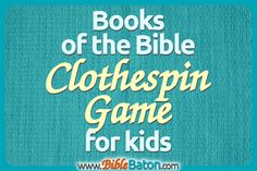 Easily memorize the books of the Bible with a fun hands-on activity! This unique game makes learning the books of the Bible a breeze for kids. Perfect for Sunday School, children's ministry, homeschool, or family devotions. Click through for the books of the Bible clothespin game instructions, plus a free printable!