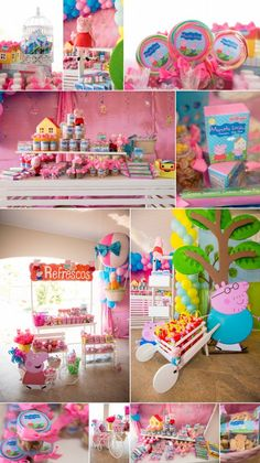 4th Birthday Parties, 3rd Birthday, George Pig Party, Cumple Peppa Pig, Fun Party Themes, Alice, Party Time, Pig Ideas, Baby Ideas