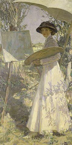 guinilde: 1910 John Lavery (Irish, 1856-1941) ~Mrs Lavery, Sketching