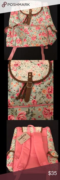 Floral backpack Brand new floral backpack perfect for back to school Bags Backpacks