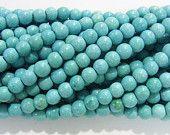 4mm Round Light Blue Magnesite Beads Genuine Natural 4483- 15''L Semiprecious Gemstone Bead Wholesale Beads Supply