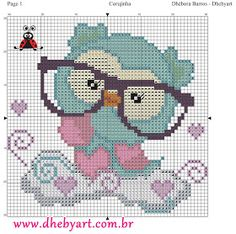 Embroidery patterns owl free crochet 66 Ideas for 2019 Cross Stitch Owl, Cross Stitch Animals, Cross Stitch Charts, Cross Stitch Designs, Cross Stitching, Cross Stitch Embroidery, Embroidery Patterns, Cross Stitch Patterns, Modele Pixel Art