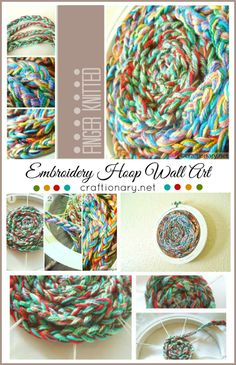 DIY finger knitted art... A great indoor project for winter crafting! #kids