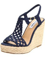 Shop Women's Steve Madden Wedges on Lyst. Track over 1130 Steve Madden Wedges for stock and sale updates. Women's Espadrilles, Espadrille Sandals, Wedge Sandals, Shoes Sandals, Dress Shoes, Ankle Boots, Shoe Boots, Cute Shoes, Me Too Shoes