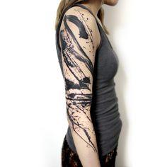 Paint Strokes, Brush Strokes, Dope Tattoos, Tribal Tattoos, S Tattoo, Tattoo Shop, Brush Stroke Tattoo, Still Life Drawing, Tattoo Magazines