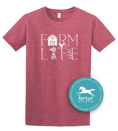 Farm Life | Farm Girl | Equestrian | Farm Shirt | Country Life | *New* Softstyle Unisex T Shirt |  Soft by HorseDoodles on Etsy https://www.etsy.com/listing/518742293/farm-life-farm-girl-equestrian-farm