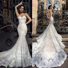 Wedding Dresses 2018 Sunflowers - 2018 gorgeous full lace mermaid wedding dresses spaghetti fitted lace appliques robe de soiree arabic sexy bridal gowns with court train Wholesale Wedding Dresses, Wedding Dresses 2018, Wedding Dress Styles, Dresses 2016, How To Dress For A Wedding, Custom Wedding Dress, Dress Wedding, Sweetheart Wedding Dress, Lace Mermaid Wedding Dress