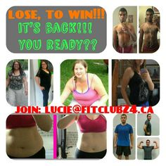 Lose weight and win cash!! Hundreds of dollars given away already! Why not into your pocket?! It's worldwide, so join!! Ask me about your discount entry ticket: Lucie@fitclub24.ca Ticket, Lose Weight, Join