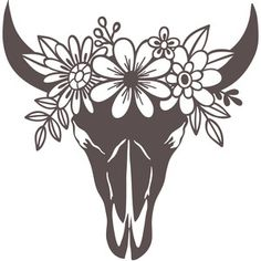I think I'm in love with this design from the Silhouette Design Store! I think I'm in love with this design from the Silhouette Design Store! Bull Skulls, Cow Skull, Silhouette Designer Edition, Vinyl Crafts, Vinyl Projects, Cricut Vinyl, Vinyl Decals, Cricut Craft Room, Hirsch Silhouette
