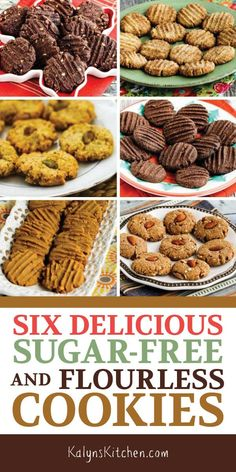 Here are Six Delicious Sugar-Free and Flourless Cookies for anyone who's watching their carbs but just needs a treat; all these are so tasty! Low Carb Cupcakes, Low Carb Cookies, Diabetic Cookies, Diabetic Desserts, Low Carb Desserts, Cookies For Diabetics, Desserts For Diabetics, Tasty Cookies, Diabetic Foods