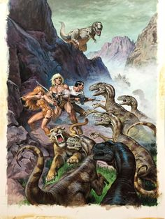 Kazar: The Guns of the Savage Land - Art by Earl Norem, 1990.
