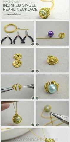 DIY necklace À refaire avec mes têtes de morts :) (collier breloque)