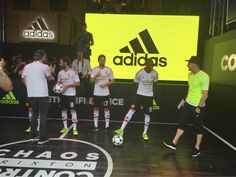 United players at the launch of the away kit.