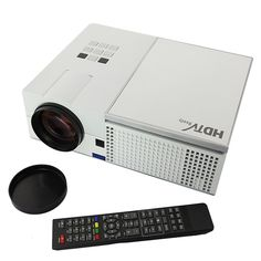 Amazon.com: 3D-Ready 1080P HD LED Projector Dual HDMI/USB,S- Video,VGA, Works with PC,DVD,Computers, XBOX,5.8 Inch LCD,Manual Focus,30 Degree Keystone Correction,160W LED Lamp,30,000 Hours Lamp Life (2500, white): Electronics